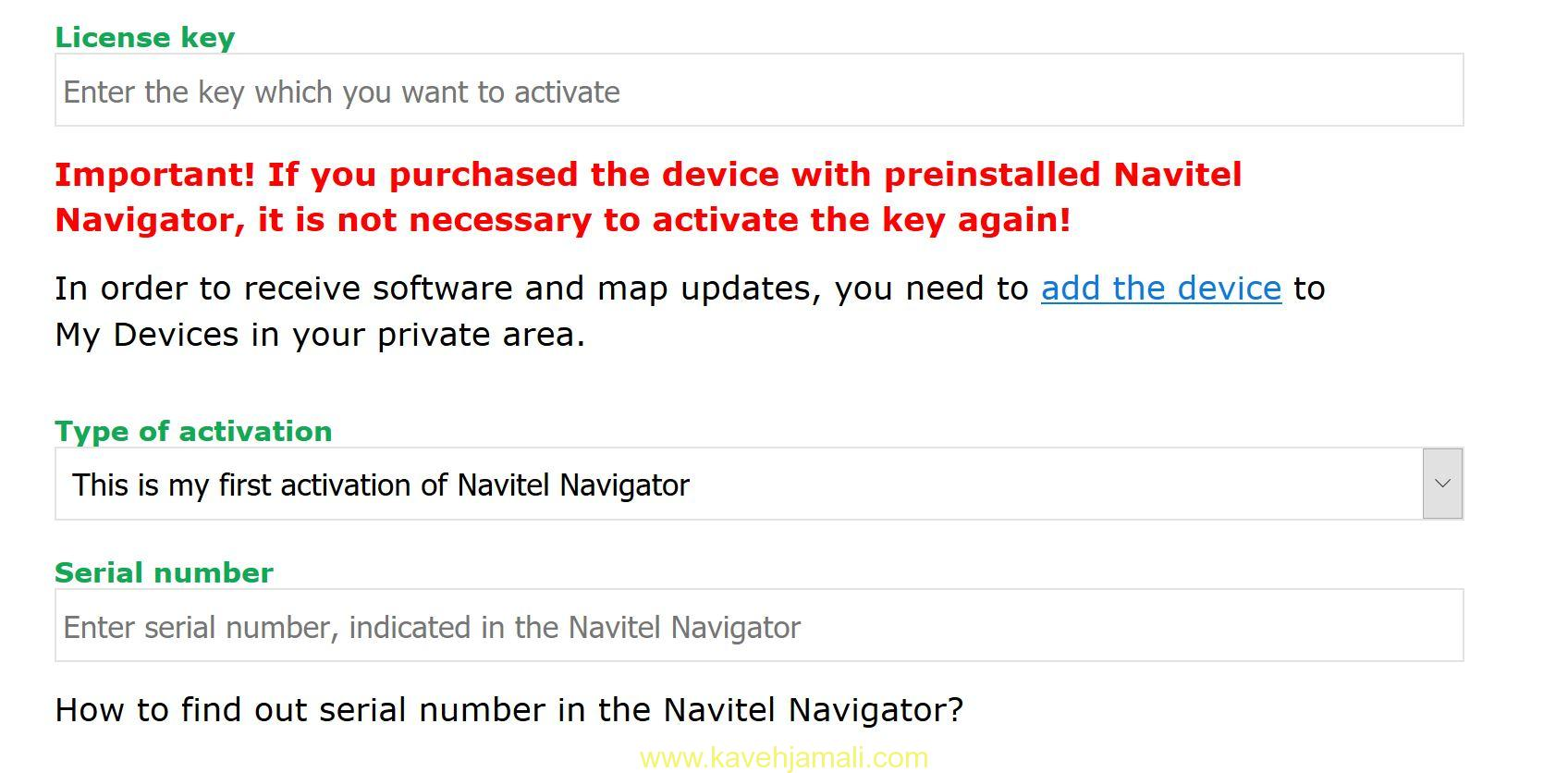 How to activate Navitel 20