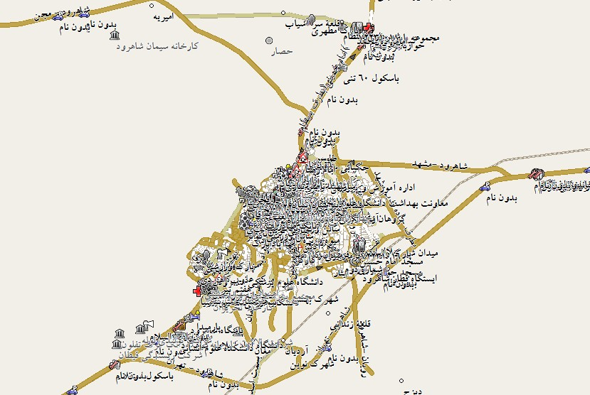 نقشه شاهرود
