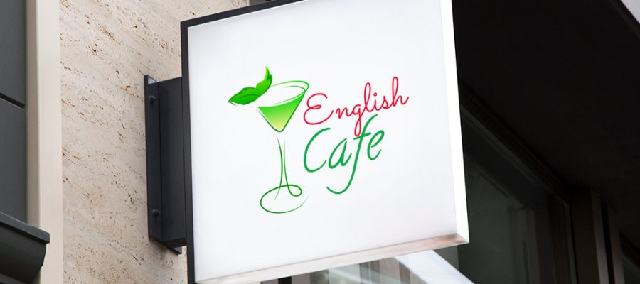 English-cafe-sign