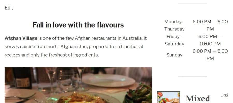 Afghan Village Resturant